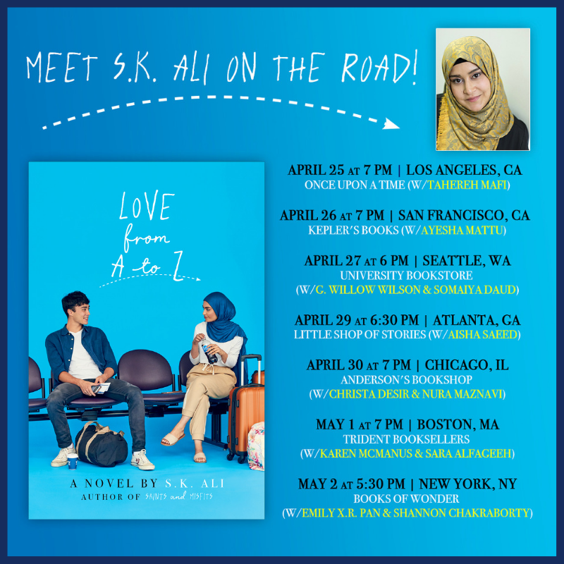 LOVE FROM A TO Z book tour